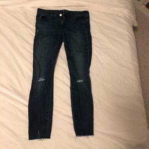 91db4c58d81 ... GAP Dark ripped skinny jeans ...